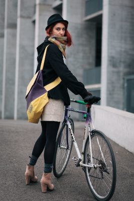 Plum and Lemon Cyclist Bag