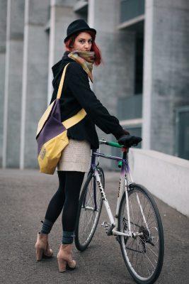 Plum and Lemon Cyclist Bag